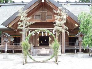 開成山大神宮の茅の輪